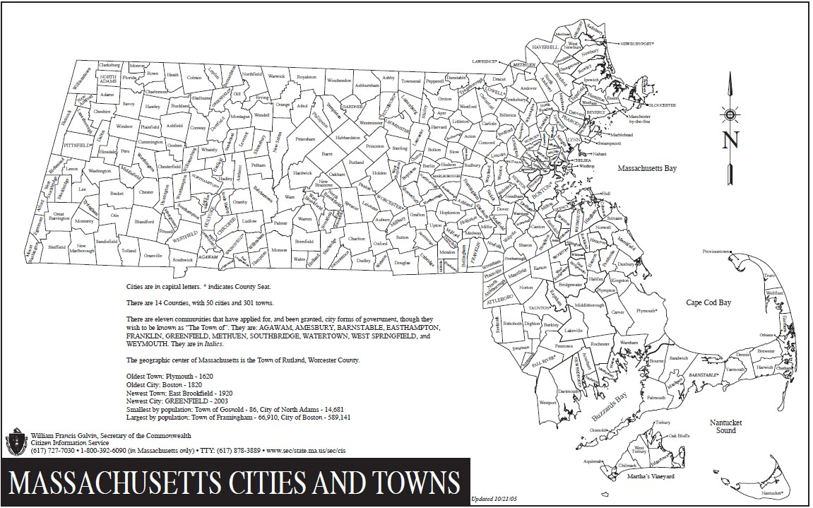 This is a graphic of Adorable Printable Map of Massachusetts